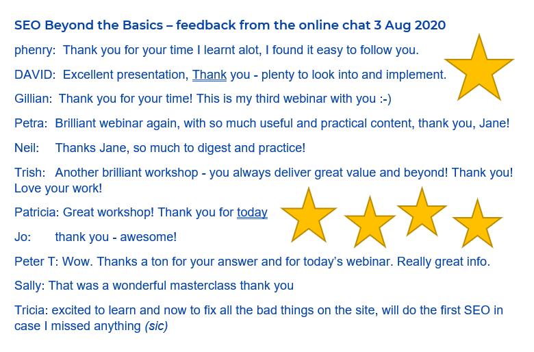 SEO-Beyond-The-Basics-SEO-Training-Webinar-Client-Feedback
