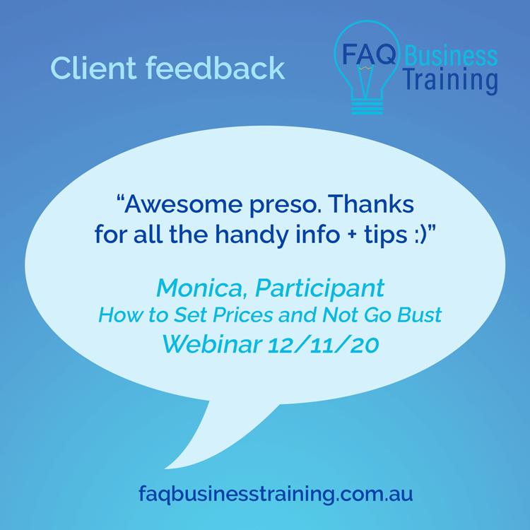 FAQ-Business-Training-Client-Feedback-Monica-Set-Prices-Webinar