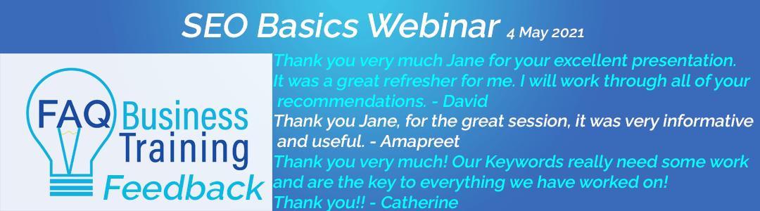 SEO-Basics-Training-Workshop-Client-Feedback-FAQ-Business-Training-Multiple-People-Banner