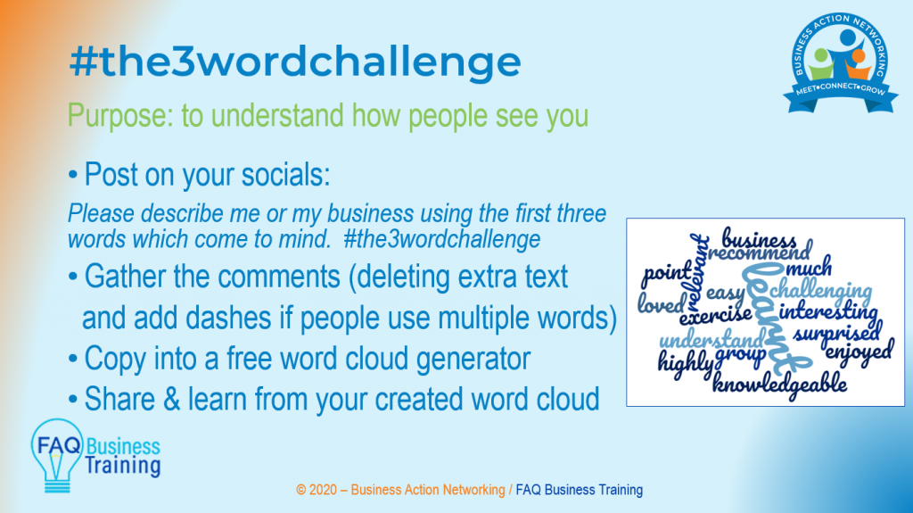 #the3wordchallenge instructions how to take part