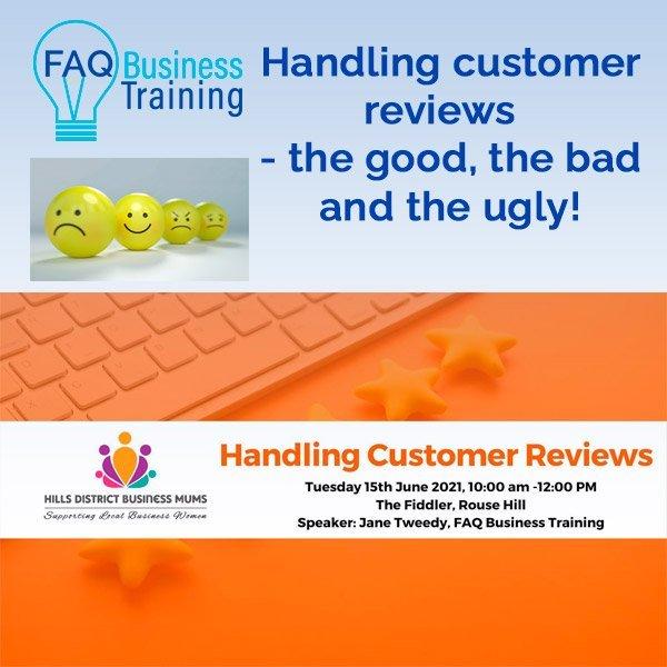 Handling customer reviews