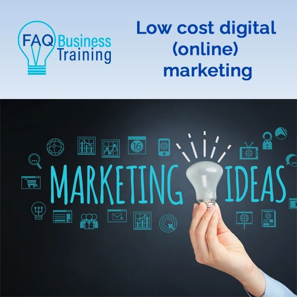 Low cost digital marketing online workshop ASBAS
