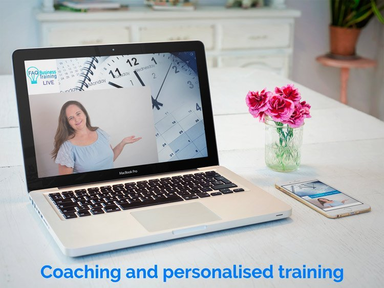 Jane-Tweedy-FAQ-Business-Training-Business-coaching-personalised-training-on-mockup-of-an-iphone-and-laptop