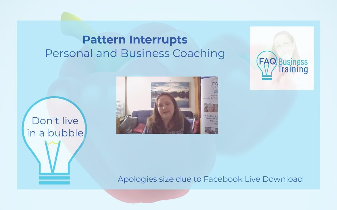 Pattern interrupts for mindset change