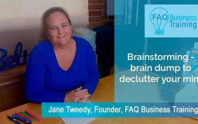 Brainstorming – braindump to declutter your mind